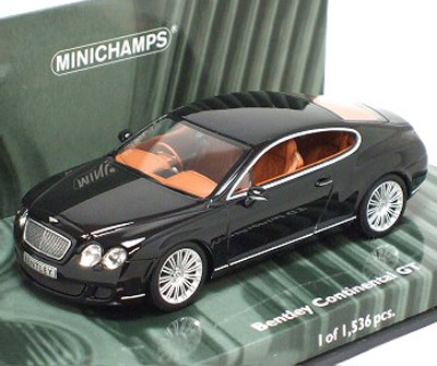 Bentley on 1 43 Scale Bentley Continental Gt 2008 Black