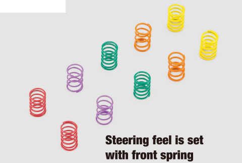 Steering feel is set with front spring